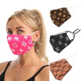 MOQ10 Fashionable new printing mask dustproof ear hanging adjustable double layer adult cotton mask