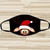 MOQ10 masque de noël lavable dessin animé coton masque commerce extérieur Santa masque mode adulte masque