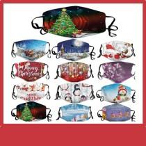 La máscara protectora de impresión digital 10D para adultos de Navidad MOQ3 puede poner una mascarilla de filtro PM2.5