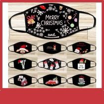 MOQ10 máscara de Navidad máscara de algodón de dibujos animados lavable comercio exterior máscara de Santa máscara de moda para adultos