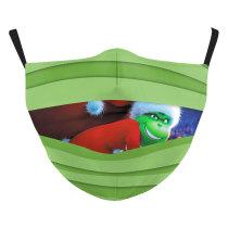 MOQ50 Adult Christmas Nuevo diseño personalizado La máscara protectora de impresión digital 3D puede poner máscara facial para adultos con filtro PM2.5