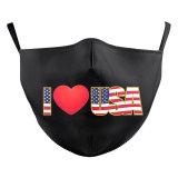 MOQ50 Adult individuelles Design Lippen Kunst waschbare Mode Gesichtsmaske enthält Tasche für Filter weichen Stoff elastischen Ohrriemen