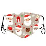 MOQ10 Christmas Santa digital printing mask dustproof ice silk washable mask