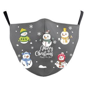 MOQ50大人のクリスマス新しいカスタマイズされたデザインの3Dデジタル印刷保護マスクはPM2.5フィルター大人のフェイスマスクを置くことができます
