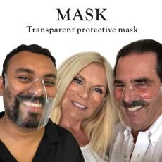 MOQ10 New protective PC mask transparent mask splash proof isolation shield HD face shield Anti fogging