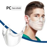 MOQ10 New protective PC mask transparent mask splash proof isolation shield HD face shield Anti fogging