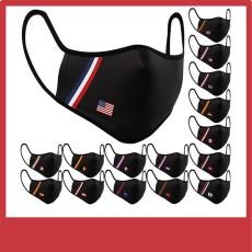 MOQ10 Erwachsenenmaske bedruckte wiederverwendbare Baumwollgesichtsmaske