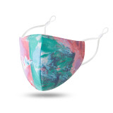 MOQ10 Dustproof and breathable washable printed cotton face mask with adjustable ear button for ventilation