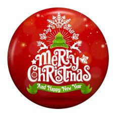 Botones a presión de metal esmaltado pintado navideño de 20 mm