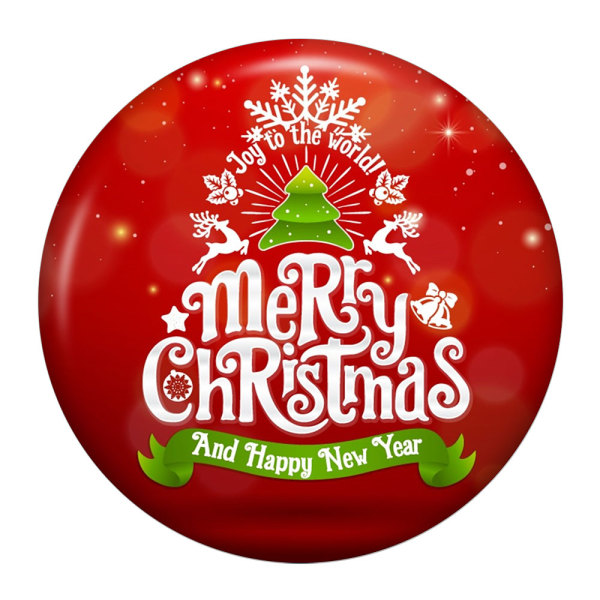20MM Christmas Painted enamel metal snap buttons