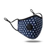 MOQ10 Masque facial en coton imprimé lavable et respirant anti-poussière avec bouton d'oreille réglable pour la ventilation Avec valve respiratoire