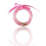 MOQ10 Gold powder five layer ribbon plastic bracelet set creative Bracelet Christmas gift