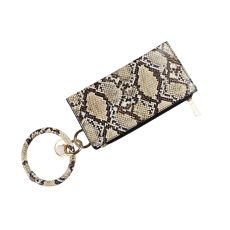 MOQ10 20*10CM  New PU leather bracelet women's Leather Key Chain Wallet hand bag Christmas gift
