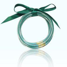 MOQ10 or poudre cinq couches ruban bracelet en plastique ensemble bracelet créatif cadeau de Noël