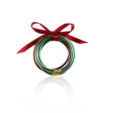 MOQ10ゴールドパウダービーズXNUMX層リボンプラスチックブレスレットセットクリエイティブブレスレットクリスマスギフト