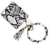 MOQ10 New PU leather tassel Bracelet Key Chain Pocket Wallet Christmas gift