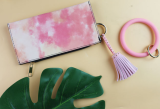MOQ10 Rivet hot drill tassel mobile phone case pendant accessories new fashion brand goddess PU leather tassel accessories The total length is 6cm