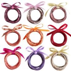MOQ10 cuir cinq couches bracelet bracelet combinaison de ruban Pu bande de roulement fil serpent imprimé léopard cadeau de noël