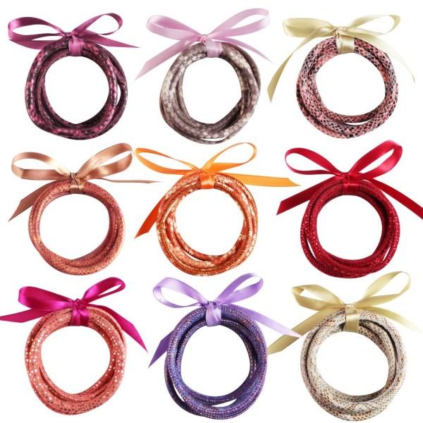 MOQ10 Leather five layer bracelet bracelet ribbon combination Pu tread thread snake leopard print Christmas gift