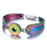 Colorful alloy 1 buttons snap  metal bracelet  snaps Jewellery