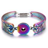 Alliage coloré 1 boutons pression bracelet en métal s'enclenche bijoux