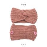 Masque Anti Bouton Laine Bande De Cheveux À Tricoter Twist Bandeau Sport Chaud Protection De L'oreille Chapeaux Accessoires De Cheveux Bandans