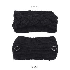Mask anti button wool hair band knitting twist headband warm sports ear protection headgear hair accessories bandans