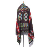 Hooded cape shawl Bohemian hooded Shawl Scarf