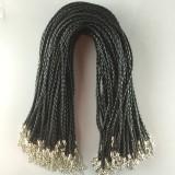 MOQ10 46CM accesorios de collar de cuerda trenzada collar de bricolaje broche de langosta