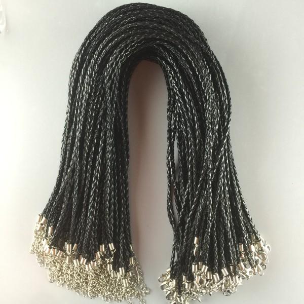 MOQ10 46CM accessoires de collier de corde tressée collier de bricolage fermoir de homard