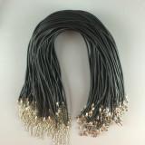 MOQ10 46CM collar de goma DIY accesorios para collar langosta hebilla collar cuerda collar cuerda