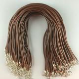 MOQ10 46CM Rubber Necklace DIY Necklace accessories lobster buckle necklace rope necklace rope
