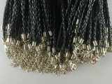 MOQ10 46CM Braided rope necklace accessories DIY Necklace lobster clasp