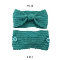 Máscara anti botón de lana banda para el cabello tejer giros diadema deportes cálidos protección para los oídos accesorios para el cabello bandans