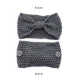 Mask anti button wool hair band knitting twist headband warm sports ear protection headgear hair accessories bandans