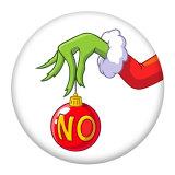 20MM Christmas geek Painted enamel metal snap buttons