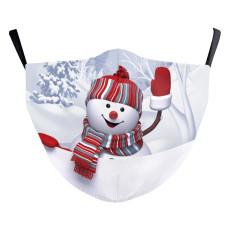 Le masque de protection d'impression numérique 10D d'enfants de Noël MOQ3 peut mettre le masque facial de filtre PM2.5