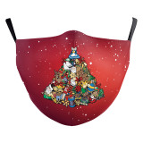 MOQ10 Christmas Children 3D digital printing protective mask can put PM2.5 filter face mask