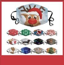 La máscara protectora de impresión digital 10D para niños de Navidad MOQ3 puede poner máscara de filtro PM2.5