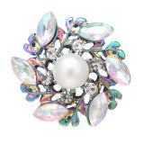 20MM design snap Alliage coloré plaqué avec des breloques en strass s'enclenche bijoux