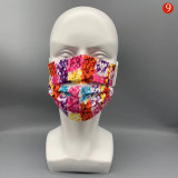 MOQ50 Disposable adult non-woven fabric melt blown layer cloth face mask thickened three-layer anti haze breathable dust-proof color mask