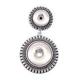 Pendentif à deux boutons-pression pour bijoux de style 20MM