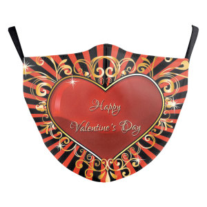 MOQ50 Adult customized design lips arts washable fashion face mask includes Pocket for filter soft fabric elastic ear straps