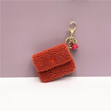 MOQ10 Mini 9 * 7 CM portefeuille porte-clés couleur bonbon belle pièce clé sac pendentif ligne de données sac de rangement porte-clés