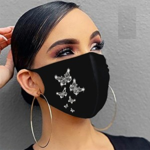 MOQ10 Dust proof fashionable color diamond cotton with rhinestone face mask