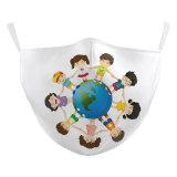 MOQ50 Niños Nueva máscara protectora de impresión digital 3D de diseño personalizado puede poner filtro PM2.5 Mascarilla para niños