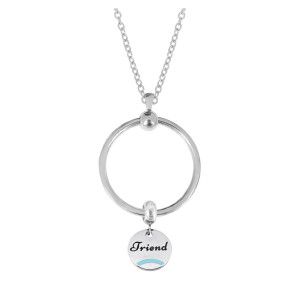 New stainless steel circle necklace set chain 45CM