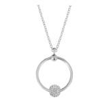 Neue Edelstahl Kreis Halskette Set Kette 45CM