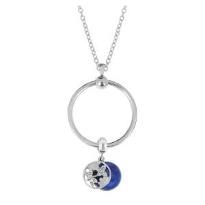 Nouveau collier de cercle en acier inoxydable chaîne 45CM
