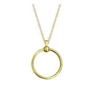 Nouvelle chaîne de collier cercle en or en acier inoxydable 45CM